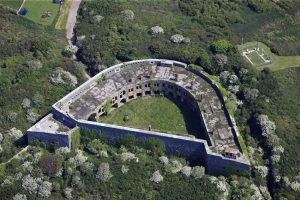 Aerial view of Fort Hubbertson, Milford Haven.