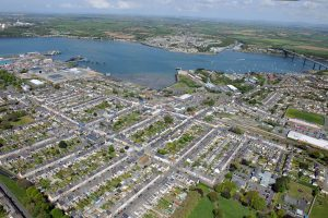 Pembroke Dock from the air.