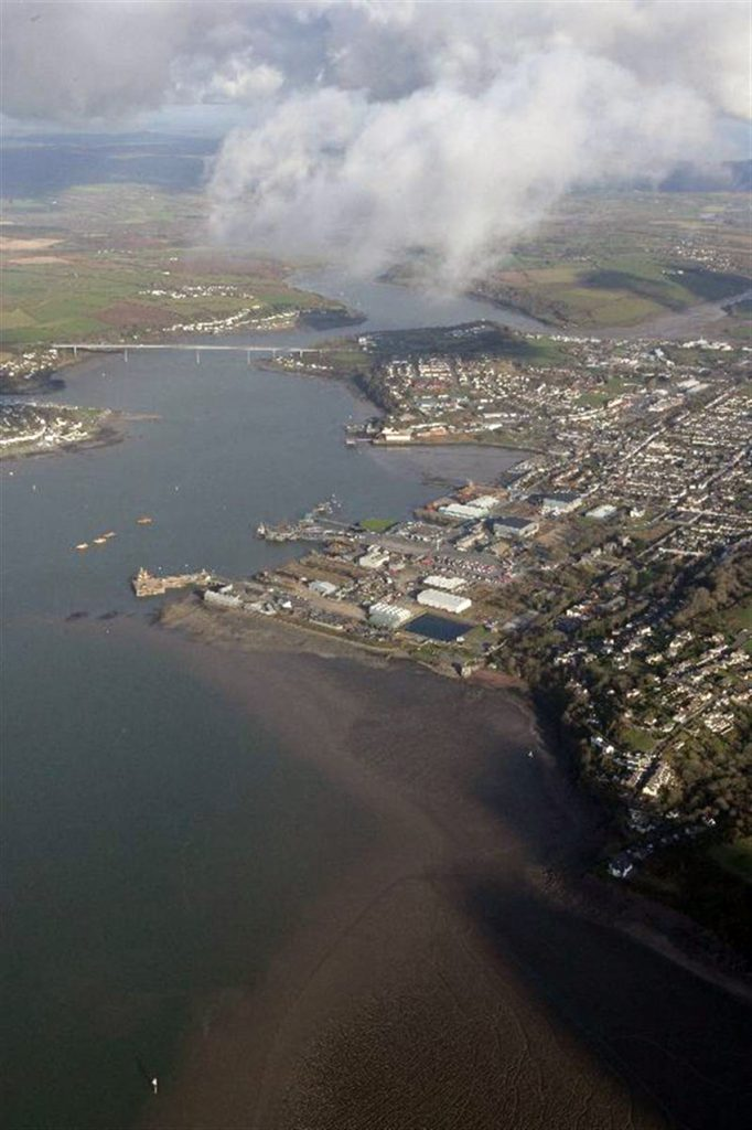 View of former Royal Naval base at Pembroke Dock
