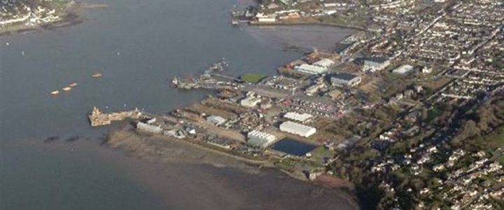 View of former Royal Naval base at Pembroke Dock