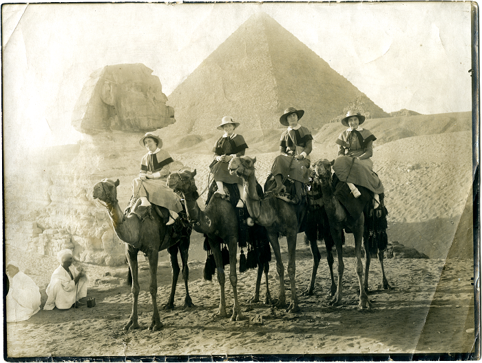 Jane Hughes and friends in Egypt