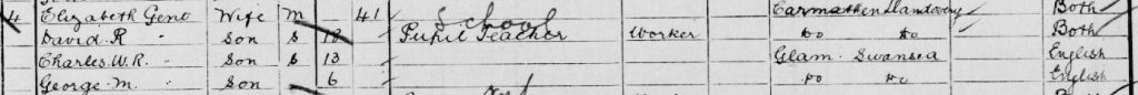 1901 census extract