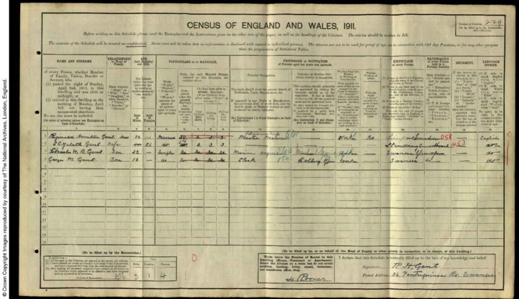 1911 census extract
