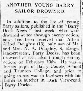 Barry Dock News article