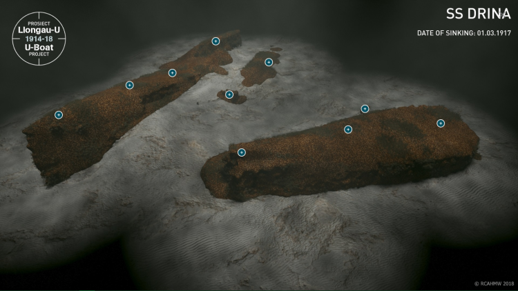 3D-model of the DRINA wreck