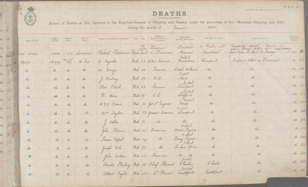 FALABA death record