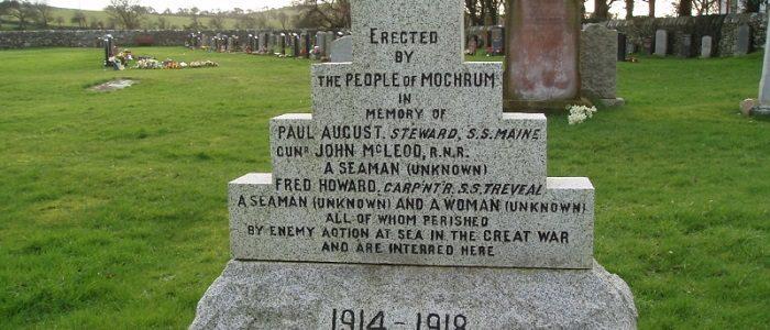 Paul August[e]'s gravestone at Mochdrum