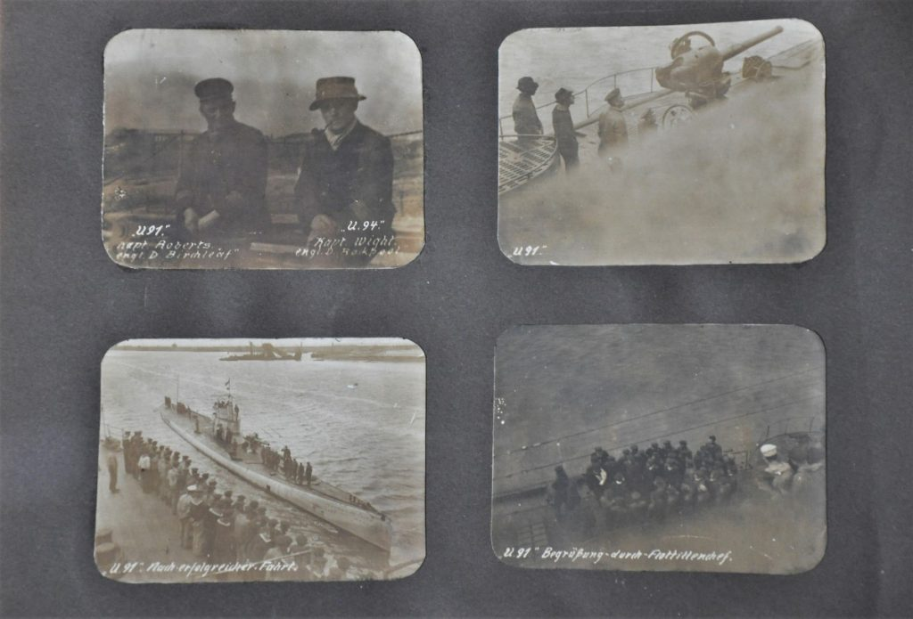 Page from a private photo album of unknown origin dating from the First World War